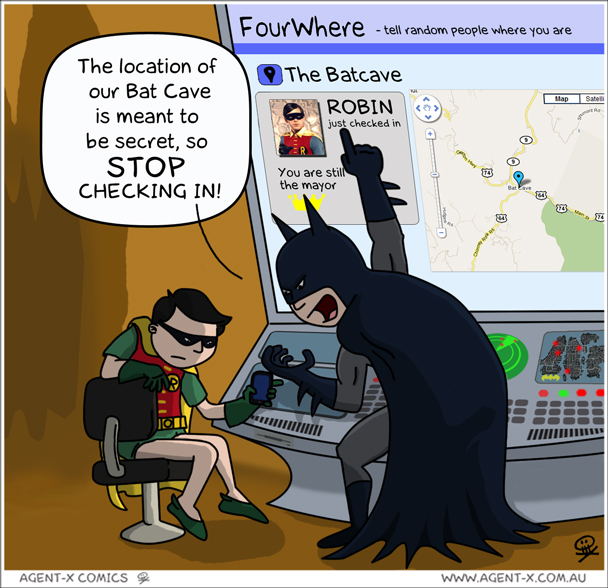 Foursquare-Joke-Batman