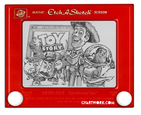 Toy Story Etch a Sketch by George Vlosich