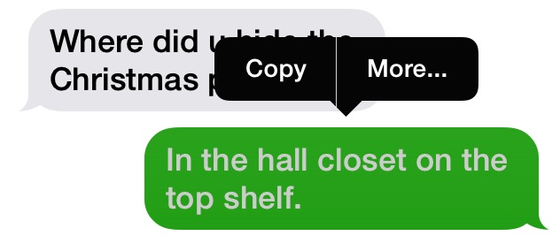 how to delete a text message from your iphone in ios7 and earlier